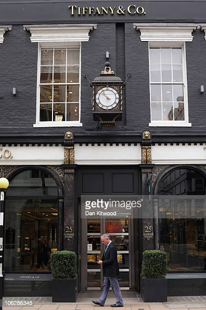 A general view of the Tiffany Co store on New Bond Street on October 28 2010 in London England