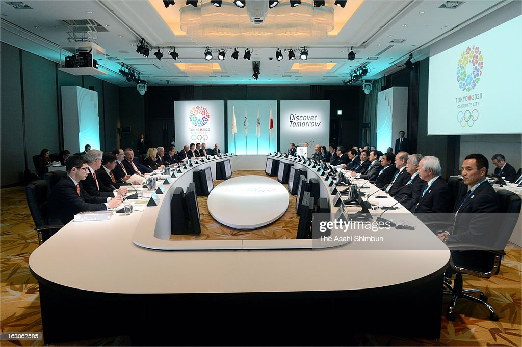 General view of the Tokyo's 2020 Olympic bid presentation at a hotel on March 4, 2013 in Tokyo, Japan. The International Olympic Committee (IOC) Evaluation Commission begins the four-day inspection.