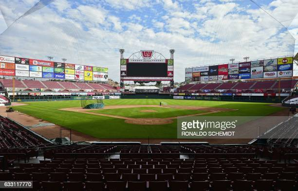 General view of the Tomateros stadium in preparation for the Caribbean Baseball Series that will take place from February 1 to 7 in Culiacan Sinaloa...