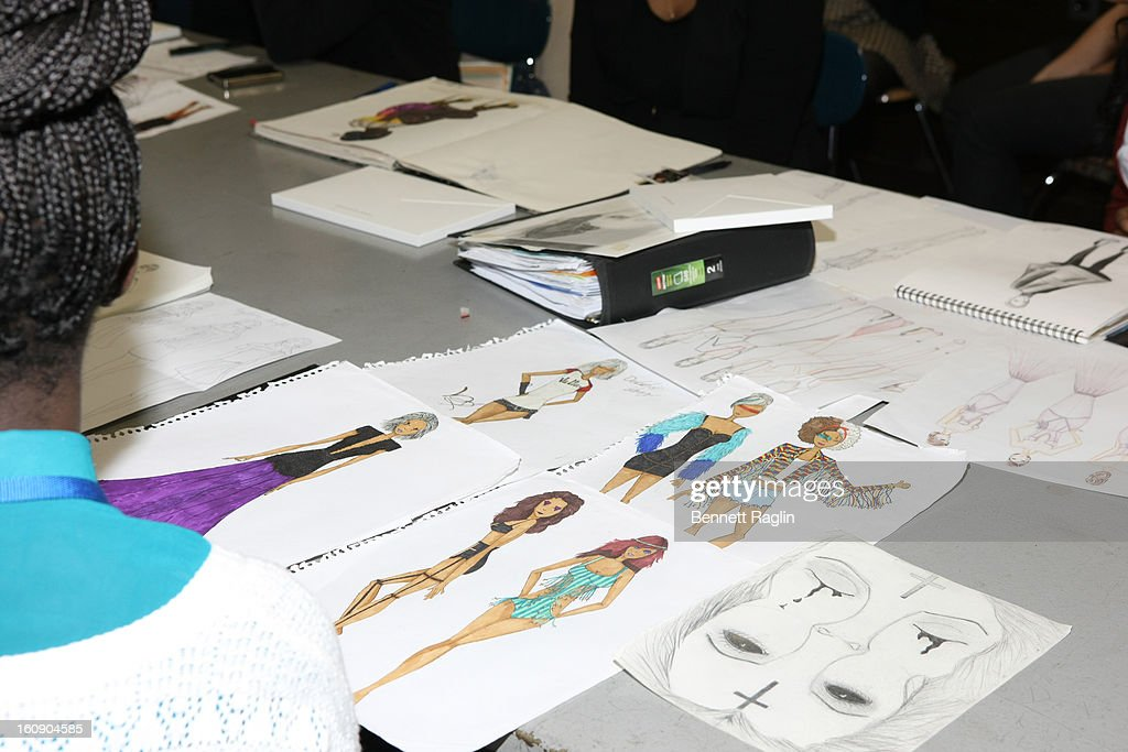 A general view of the Tommy Hilfiger And Chancellor Walcott Kick Off Fashion Week By Going Back To School at High School For Fashion Industries on February 7, 2013 in New York City.