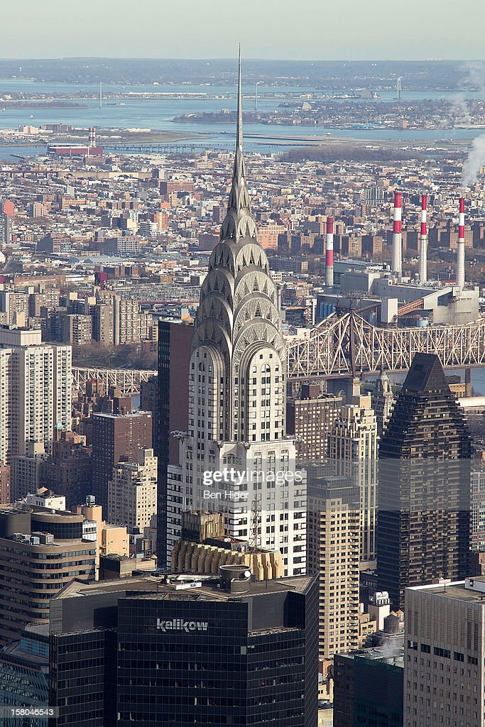 A general view of the top of The Chrysler Building on December 06, 2012 in New York City.