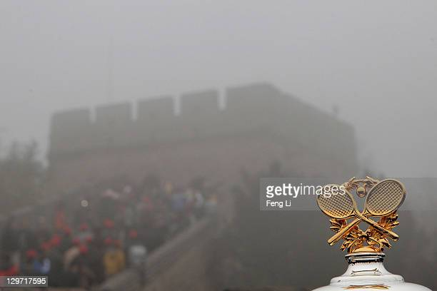 A general view of the top of the Ladies trophy at the Great Wall during the 2012 Australian Open Trophy Tour on October 20 2011 in Beijing China
