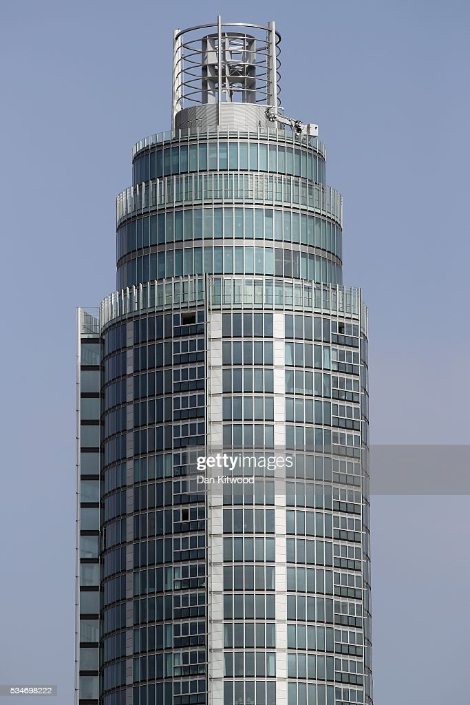 A general view of the top of The Tower, St George Wharf in Vauxhall on May 27, 2016 in London, England. Around two-thirds of the luxury flats in the St George Wharf Tower, which was completed in 2014 and is 50 storeys high, are thought to be in foreign ownership with many left vacant.