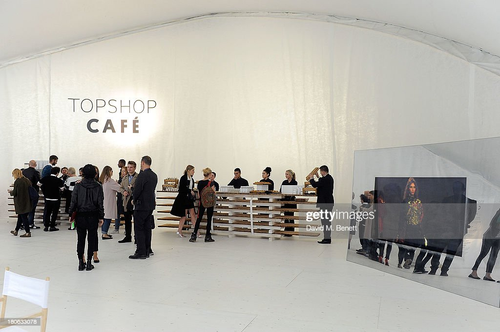 A general view of the Topshop Cafe at the Unique SS14 Runway show during London Fashion Week on September 15, 2013 in London, England.