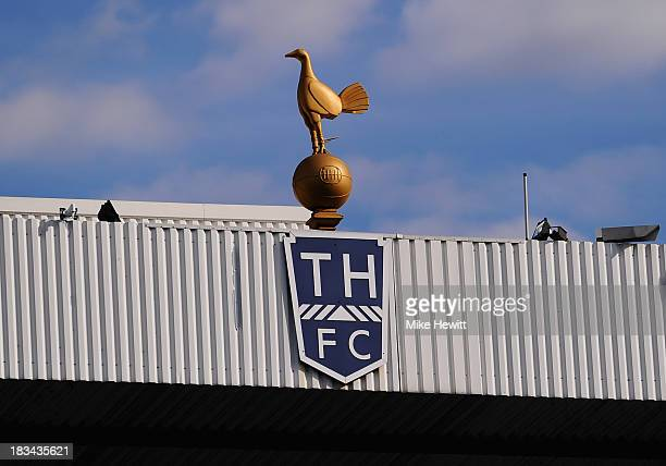 A general view of the Tottenham Hotspur crest ahead of the Barclays Premier League match between Tottenham Hotspur and West Ham United at White Hart...