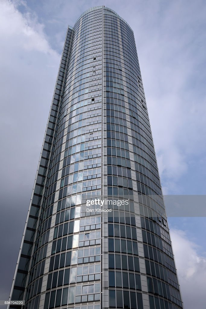 A general view of The Tower, St George Wharf in Vauxhall on May 27, 2016 in London, England. Around two-thirds of the luxury flats in the St George Wharf Tower, which was completed in 2014 and is 50 storeys high, are thought to be in foreign ownership with many left vacant.