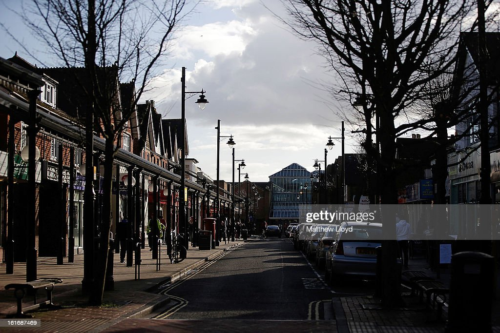 A general view of the town centre and shopping area on February 14, 2013 in Eastleigh, Hampshire. A by-election has been called in the constituency of Eastleigh after it's former MP, Chris Huhne, resigned after pleading guilty to perverting the course of justice over claims his ex-wife took speeding points for him in 2003.