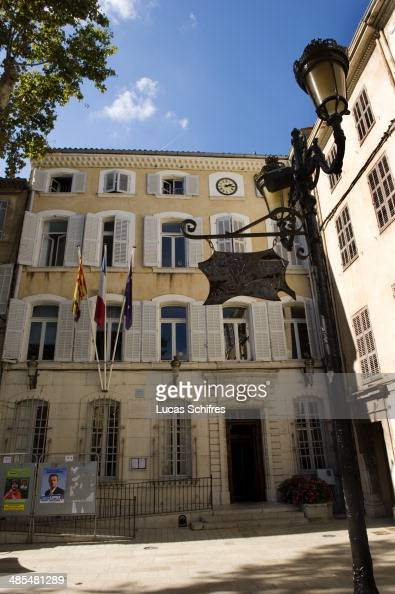A general view of the town hall on October 9 in Brignoles south of France