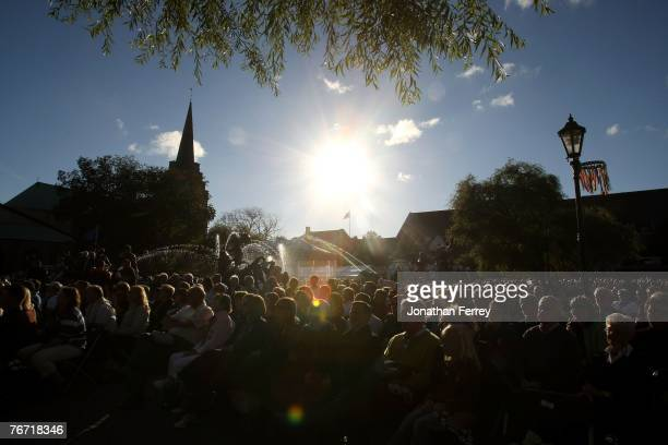 A general view of the town square during the Opening Ceremonies prior to the start of the Solheim Cup at Halmstad Golf Club on September 2007 in...