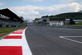 A general view of the track ahead of the Austrian Formula One Grand Prix at Red Bull Ring on June 19 2014 in Spielberg Austria
