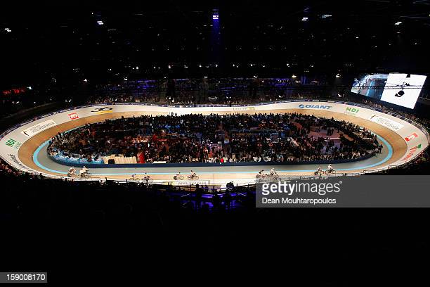 A general view of the track and fans during the Rotterdam 6 Day Cycling at Ahoy Rotterdam on January 5 2013 in Rotterdam Netherlands