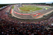 A general view of the track and stands during the German Grand Prix at Hockenheimring on July 20 2014 in Hockenheim Germany