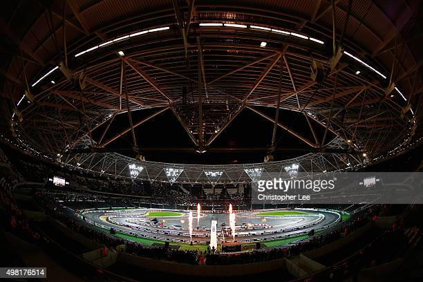 General view of the track as a race is finishing during the Race of Champions at the Olympic Stadium on November 21 2015 in London England