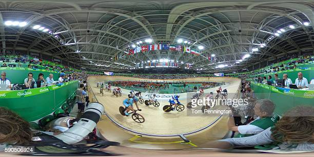 A general view of the Track Cycling on Day 11 of the Rio 2016 Olympic Games at the Rio Olympic Velodrome on August 16 2016 in Rio de Janeiro Brazil