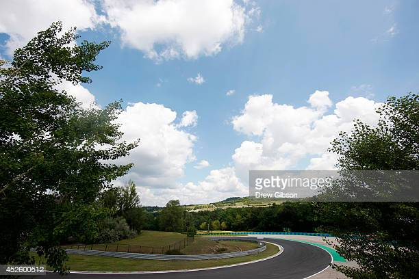 A general view of the track during previews ahead of the Hungarian Formula One Grand Prix at Hungaroring on July 24 2014 in Budapest Hungary