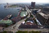 General view of the track during the IZOD IndyCar Series Baltimore Grand Prix on September 4 2011 on the streets of Baltimore Maryland