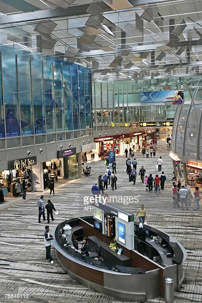A general view of the transit hall of Changi International Airport Terminal 3 in Singapore 09 January 2008 Singapore opened its largest and most...