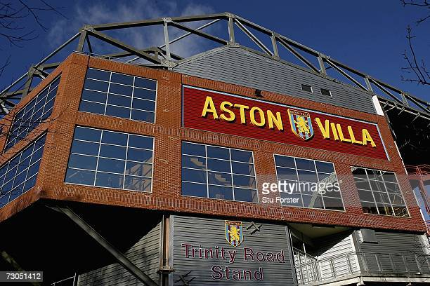 A general view of the Trinity stand at Villa Park during the Barclays Premiership match between Aston Villa and Watford at Vicarage Road on January...