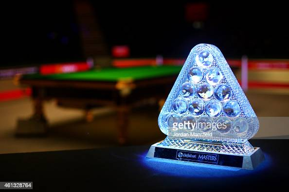 A general view of the trophy ahead of day one of the 2015 Dafabet Masters at Alexandra Palace on January 11 2015 in London England