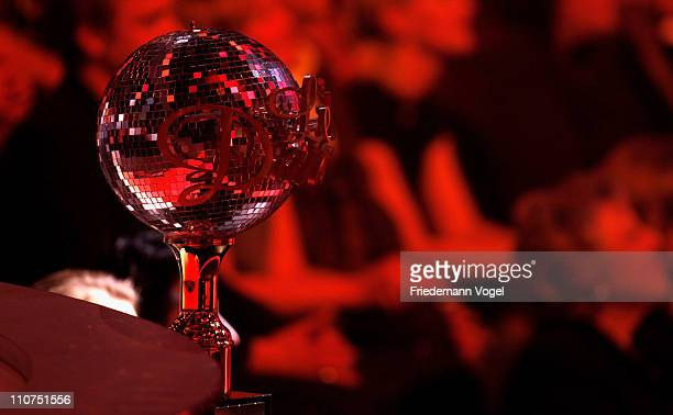A general view of the trophy is pictured during the 'Let's Dance' TV show at Coloneum on March 23 2011 in Cologne Germany