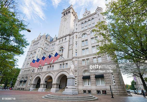 General view of the Trump International Hotel Washington DC at the Old Post Office on October 31 2016 in Washington DC Washington DC