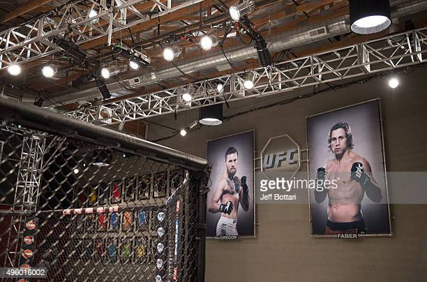 A general view of the TUF gym during the filming of The Ultimate Fighter Team McGregor vs Team Faber at the UFC TUF Gym on August 7 2015 in Las Vegas...