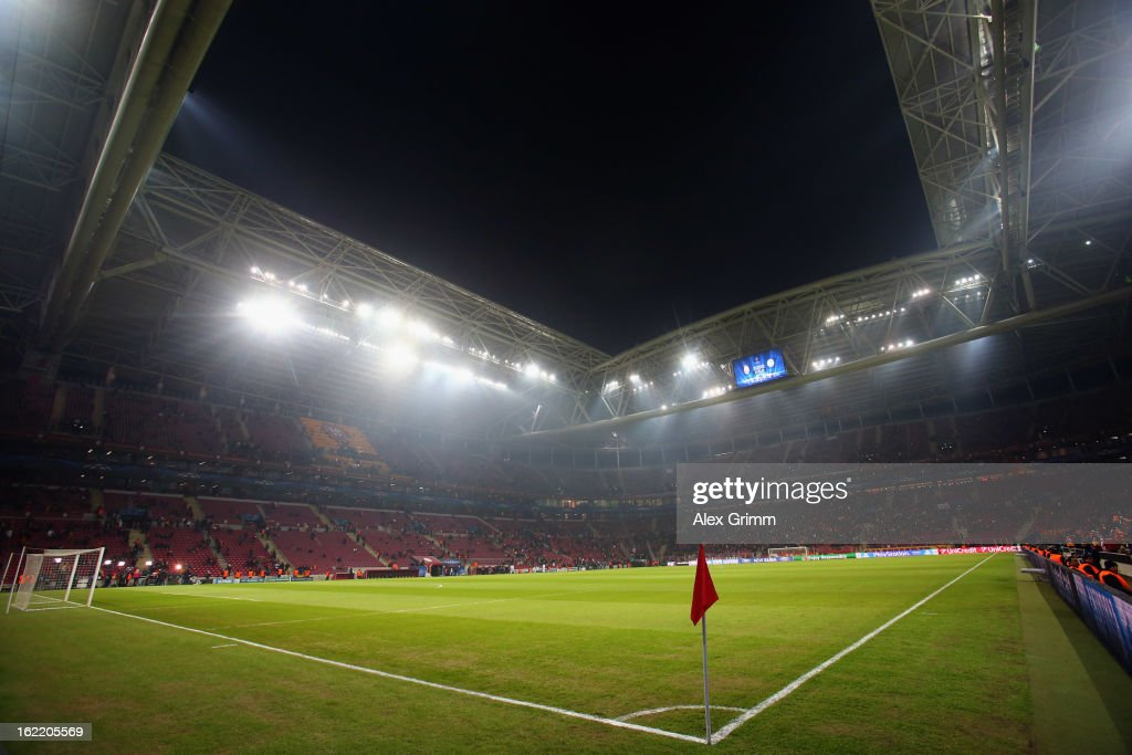 General view of the Turk Telekom Arena prior to the UEFA Champions League Round of 16 first leg match between Galatasaray and FC Schalke 04 on February 20, 2013 in Istanbul, Turkey.