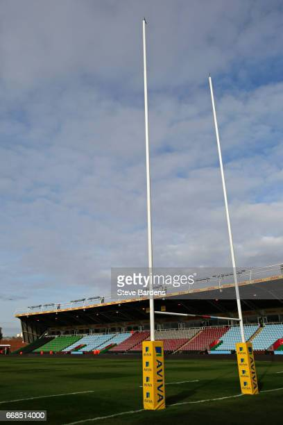 General view of the Twickenham Stoop prior to the Aviva Premiership match between Harlequins and Exeter Chiefs at Twickenham Stoop on April 14 2017...