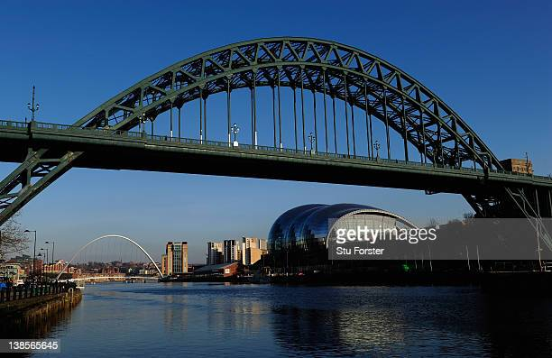 A general view of the Tyne Bridge over the River Tyne on February 8 2012 in Newcastle upon Tyne England