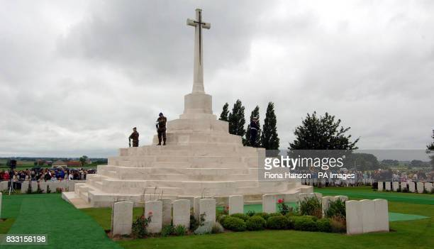 General view of the Tyne Cot War Cemetary Passchedaele during a ceremony for WWI Commonwealth soldiers