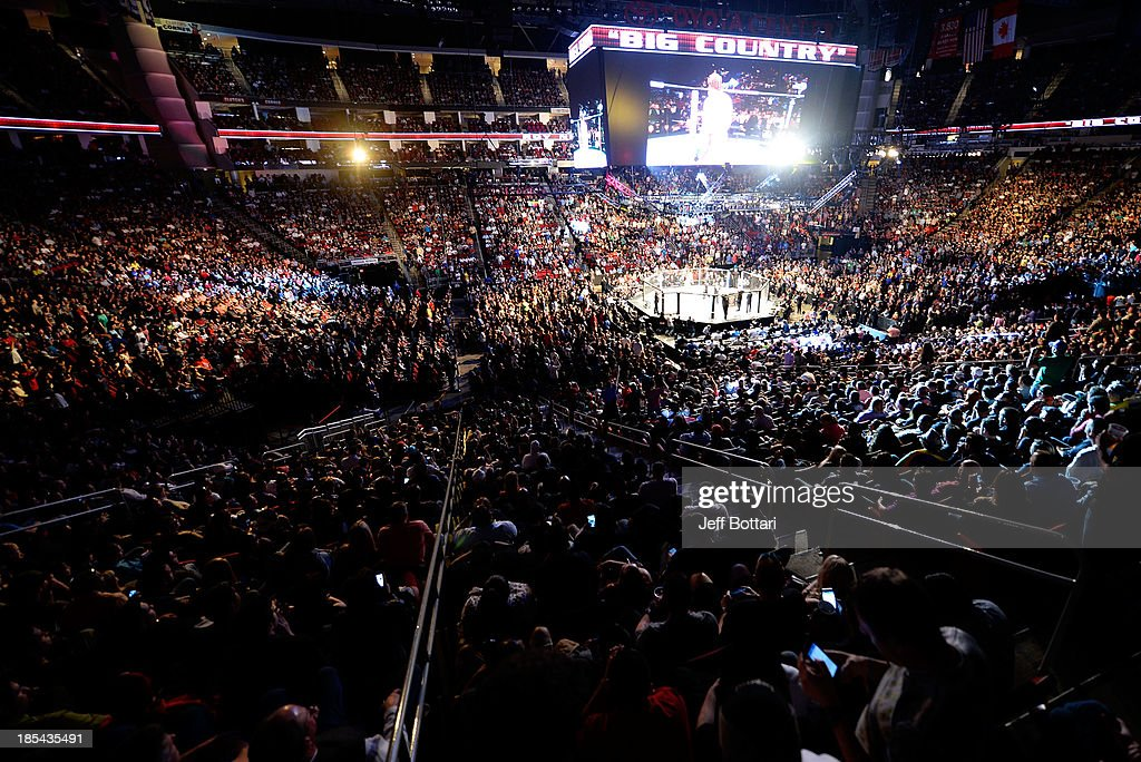 A general view of the UFC 166 event at the Toyota Center on October 19, 2013 in Houston, Texas.