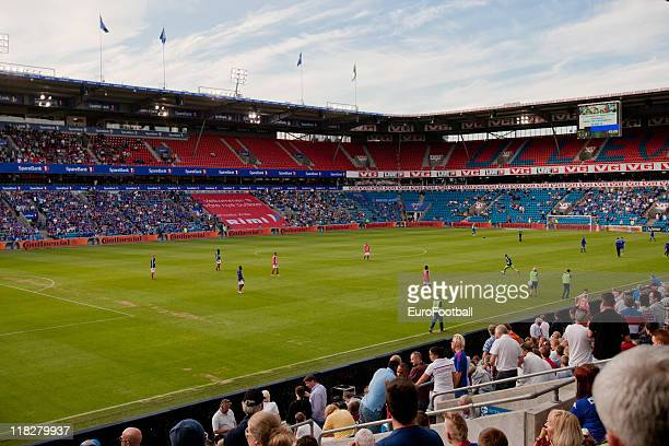 General view of the Ullevaal Stadion taken prior to the Norwegian Tippeligaen match between Valerenga Fotball and Molde FK held on June 29 2011 at...