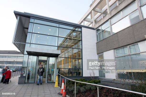 General view of the Ulster Hospital at Dundonald in Belfast where the Rev Ian Paisley has been admitted