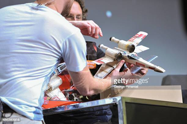 A general view of the Unboxing of new product line in promotion of Lucasfilm's 'Star Wars Episode VII The Force Awakens' at the Metro Toronto...