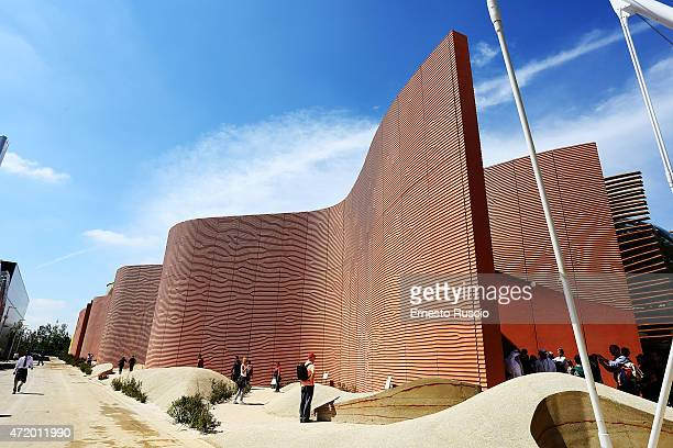General view of the United Arab Emirates pavilion during the Milano EXPO 2015 at Fiera Milano Rho on May 2 2015 in Milan Italy