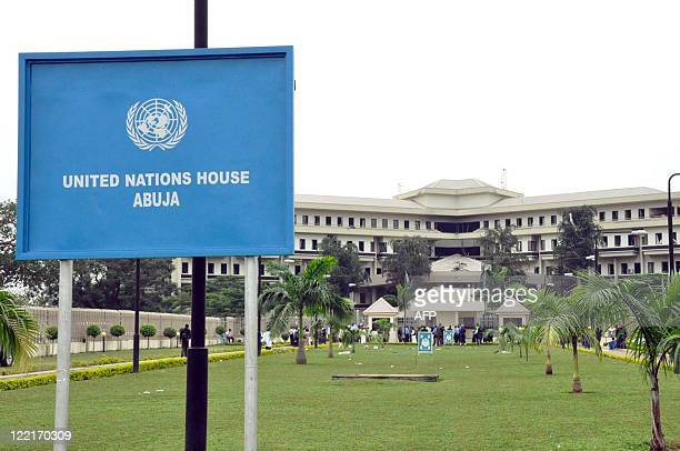 A general view of the United Nations House taken on August 26 2011 in Abuja after the building was hit by a bomb that killed at least 18 people...