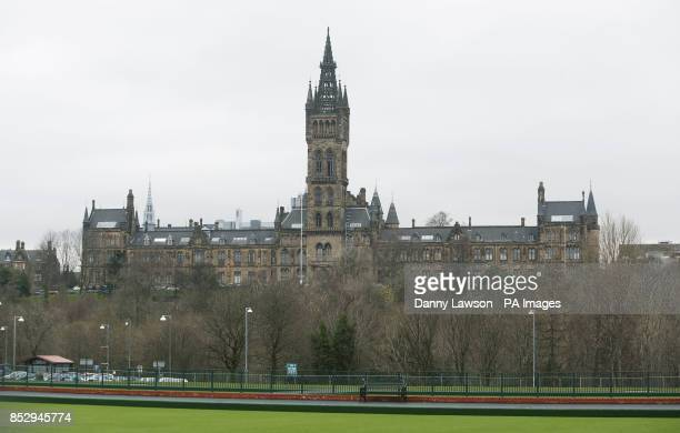General view of the University of Glasgow where whistleblower Edward Snowden has agreed to stand as a candidate for rector