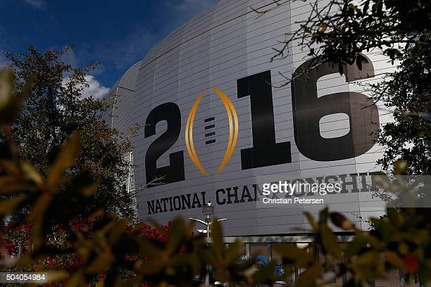 General view of the University of Phoenix Stadium ahead of the 2016 College Football Playoff National Championship between the Alabama Crimson Tide...