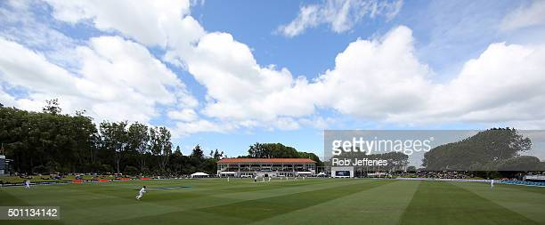 A general view of the University Oval Dunedin during day four of the First Test match between New Zealand and Sri Lanka at University Oval on...