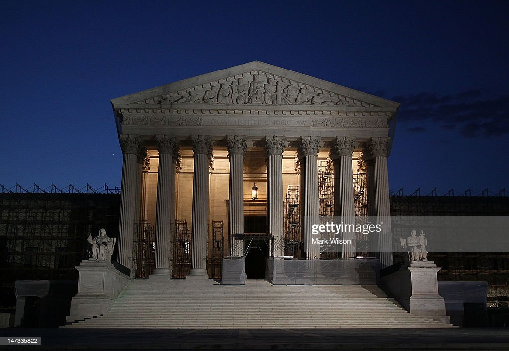 A general view of the U.S. Supreme Court on June 28, 2012 in Washington, DC. Today the high court is expected to rule on the constitutionality of the sweeping health care law championed by President Barack Obama.