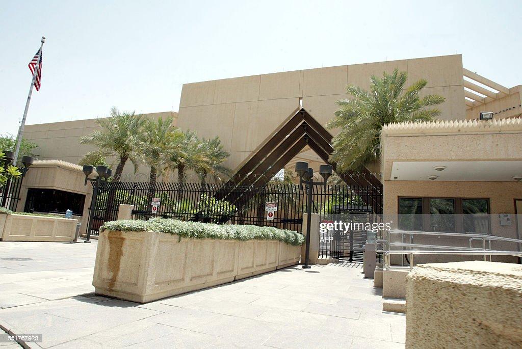 General view of the USA embassy on June 21 2005 in Riyadh Saudi Arabia