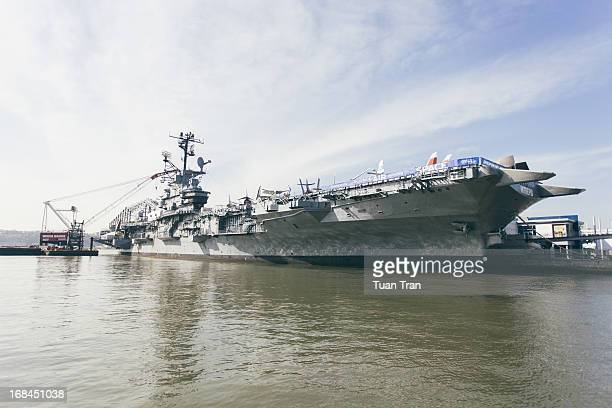 A general view of the USS Intrepid on April 24 2013