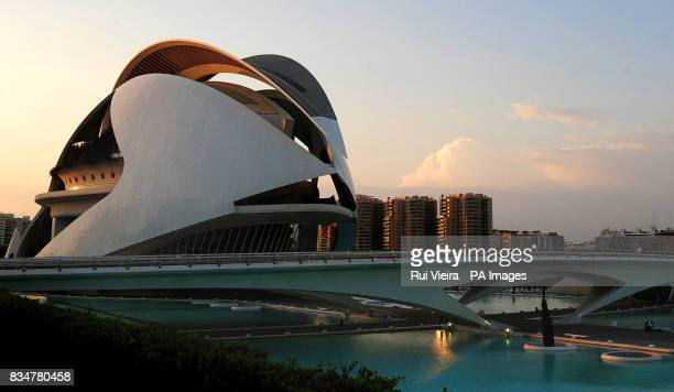 A general view of the Valencia Opera House Officially opened by Queen Sofia of Spain It is named for the Queen as 'el Palau de les Arts Reina Sofa'...