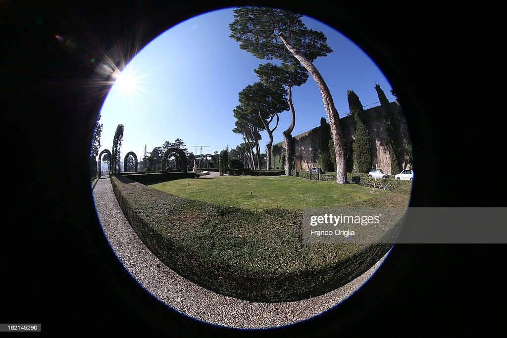 A general view of the Vatican Gardens on February 19, 2013 in Vatican City, Vatican. When Pope Benedict XVI steps down, after almost eight years as the 265th Pope, on February 28, 2013 it is reported that he will live in the Vatican Gardens.