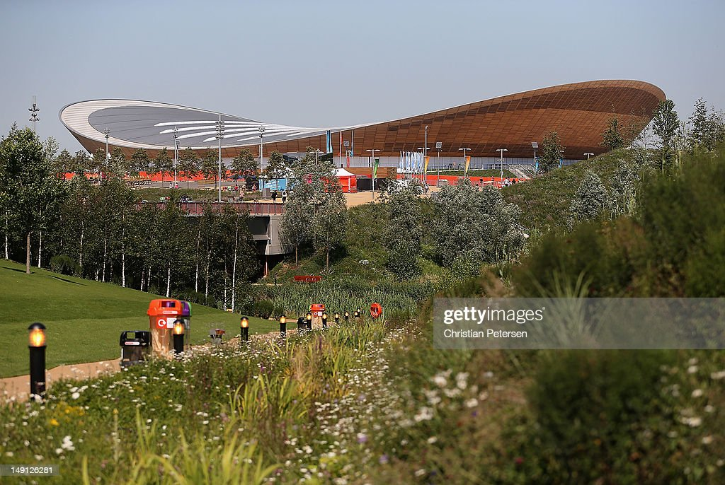 General view of the Velodrome as seen from the Olympic Park on July 23 2012 in London England