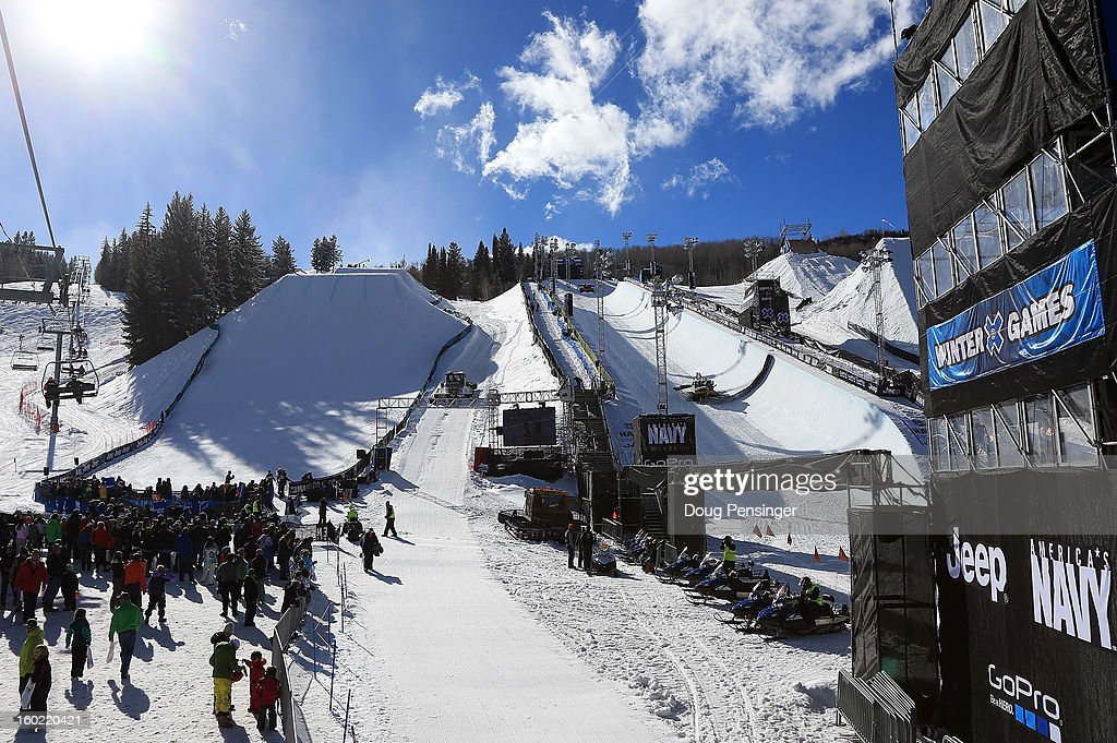 A general view of the venue at Winter X Games Aspen 2013 at Buttermilk Mountain on January 27, 2013 in Aspen, Colorado.