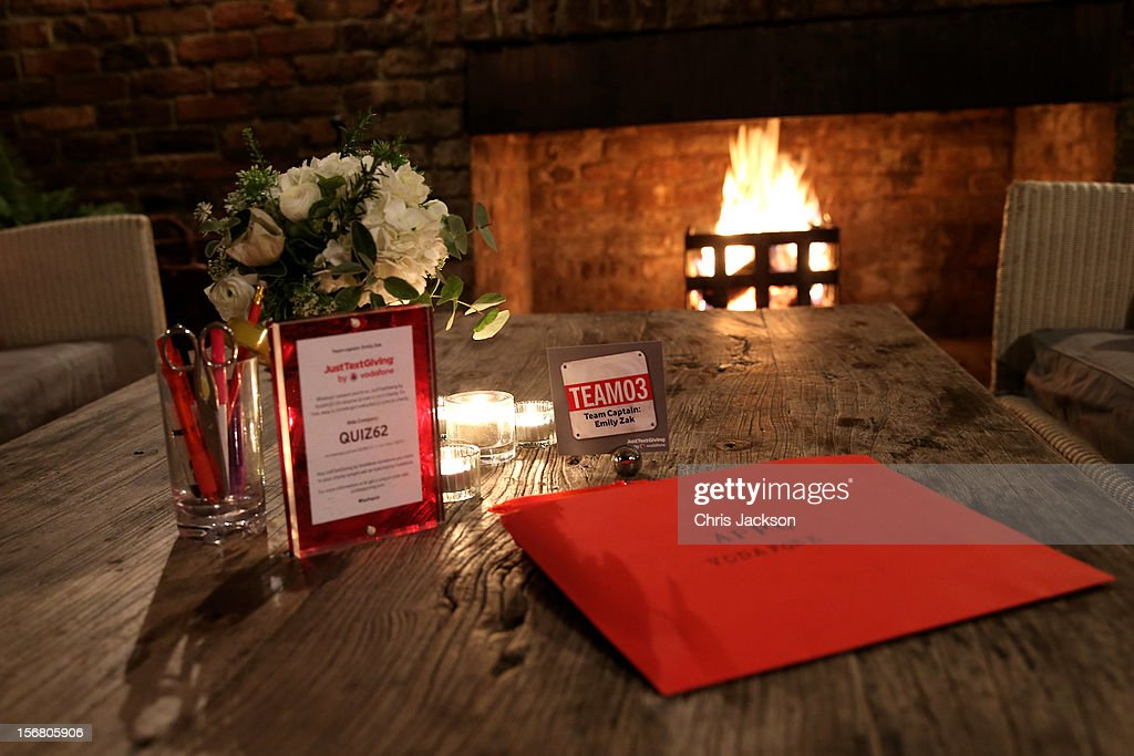 A general view of the venue prior to the Vodafone Fashionable Pub Quiz at Shoreditch House on November 21, 2012 in London, United Kingdom. As Principal Sponsor of London Fashion Week, the quiz celebrated Vodafone's commitment to British Fashion.