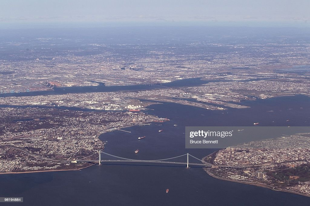 A general view of the VerrazanoNarrows Bridge on March 24 2010 in Brooklyn New York