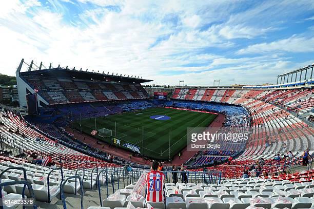 A general view of the Vicente Calderon stadium ahead of the La Liga match between Club Atletico de Madrid and Granada CF at Vicente Calderon Stadium...
