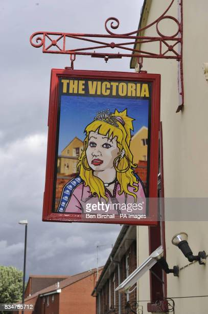 A general view of The Victoria pub in St Werburghs Bristol which has caused controversy by swapping a sign of Queen Victoria for one showing Victoria...